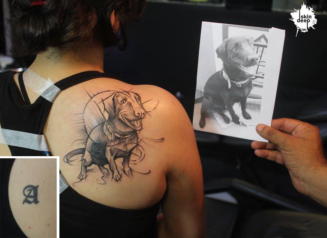 Cover Up Tattoo – Doggy