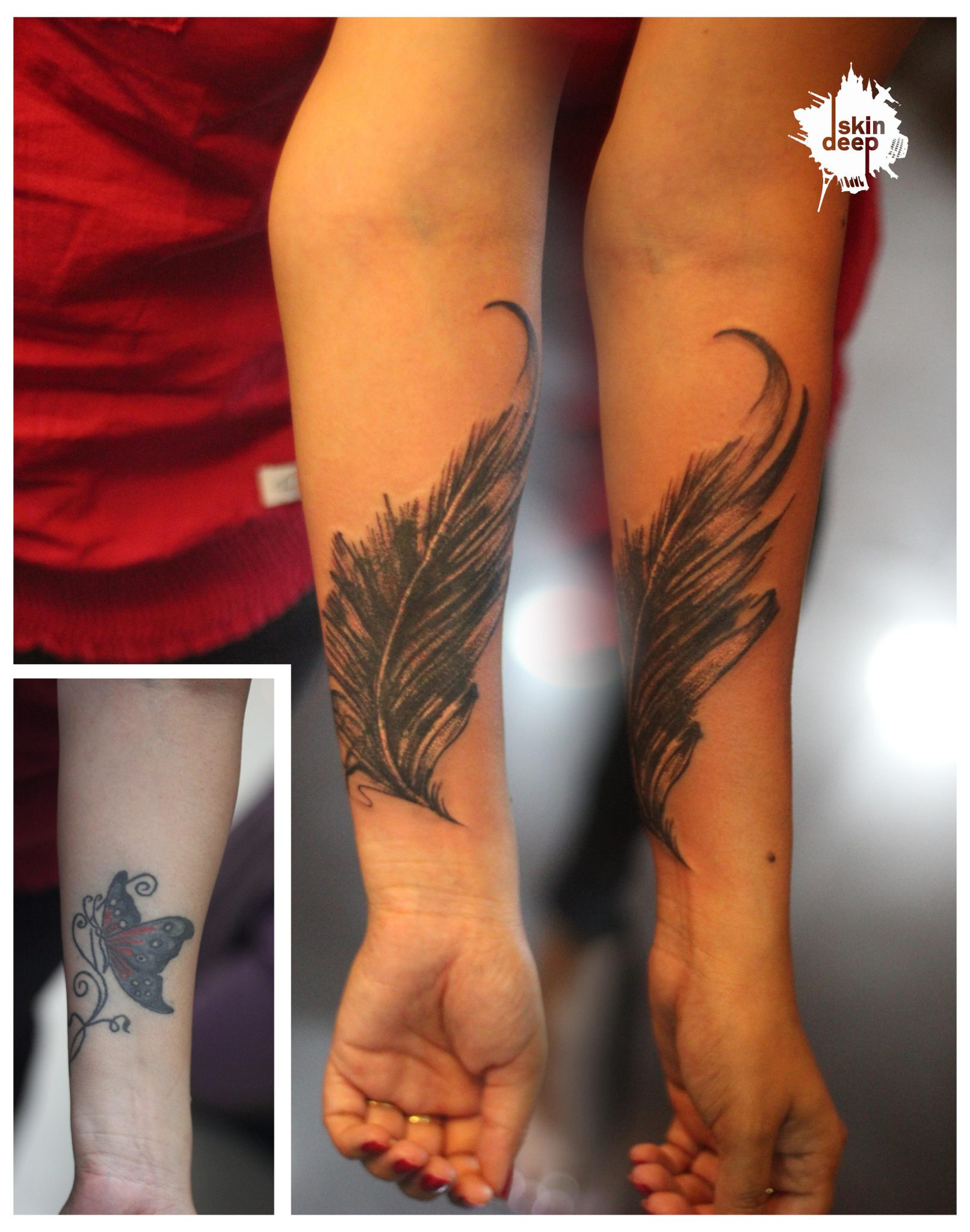 Cover Up Tattoo – Feather