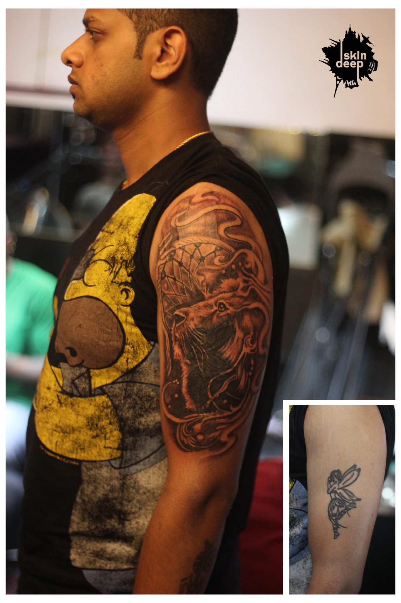 Cover Up Tattoo – Lion