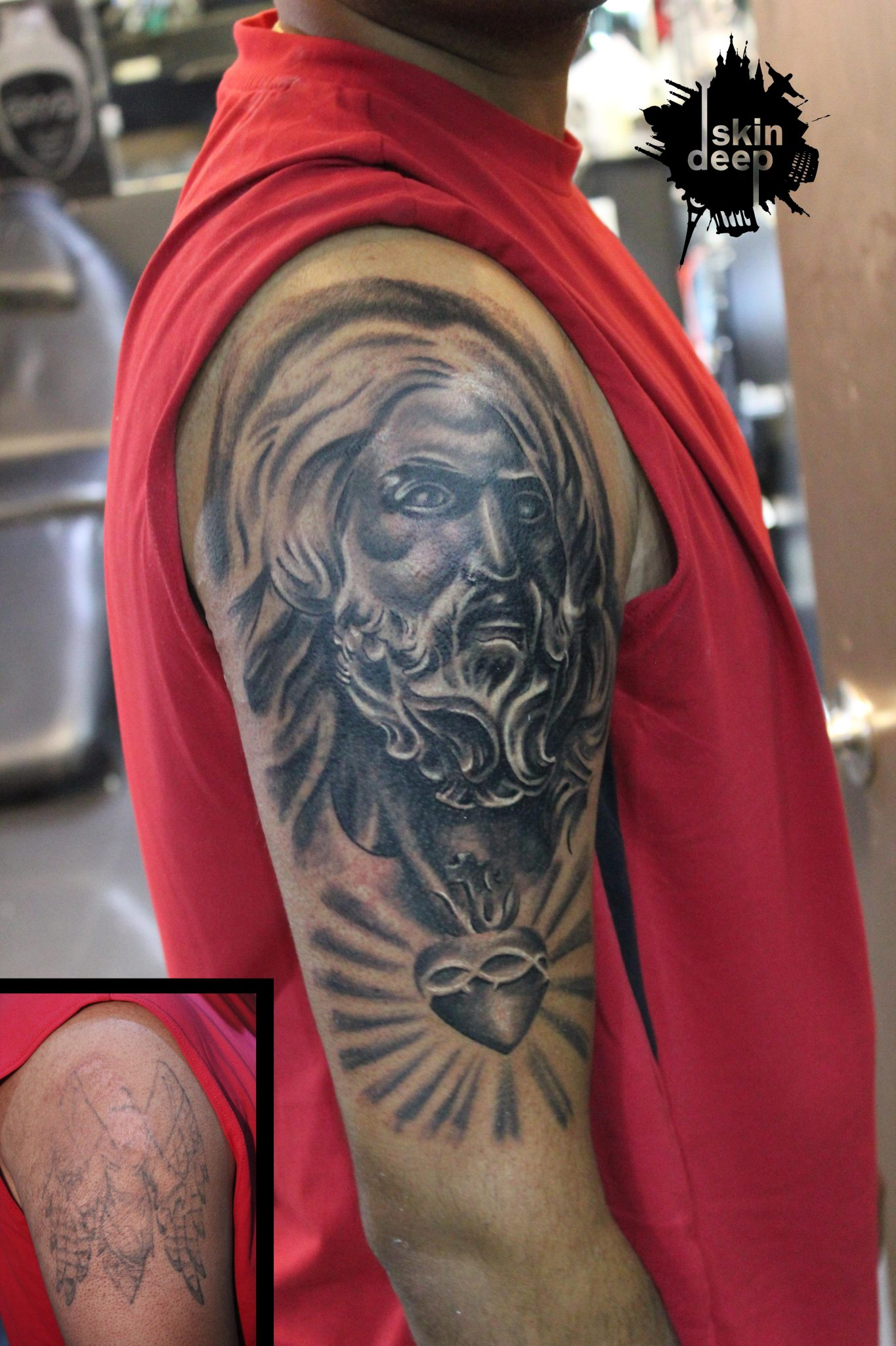 Cover Up Tattoo – Jesus
