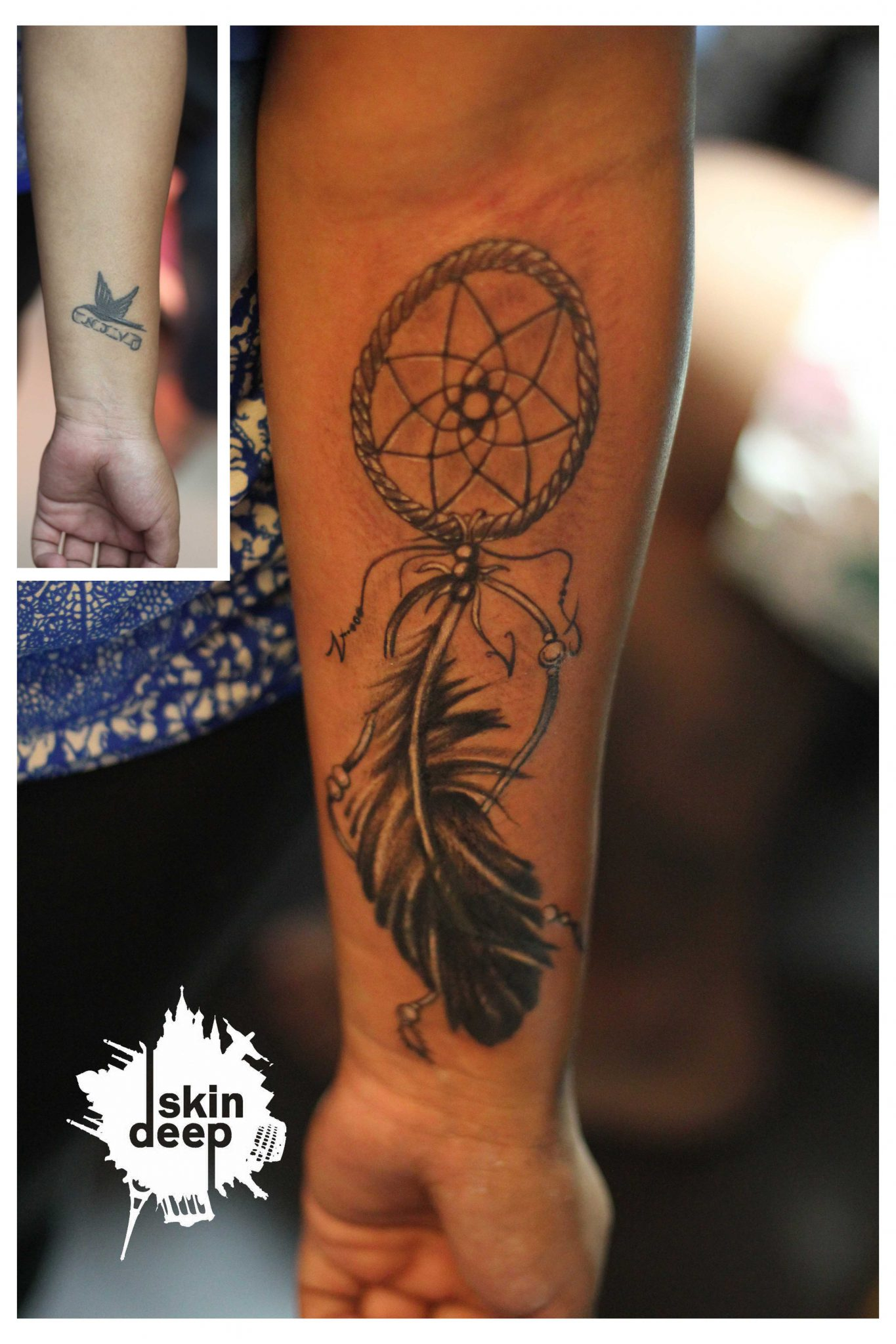 Cover Up Tattoo – Dreamcatcher