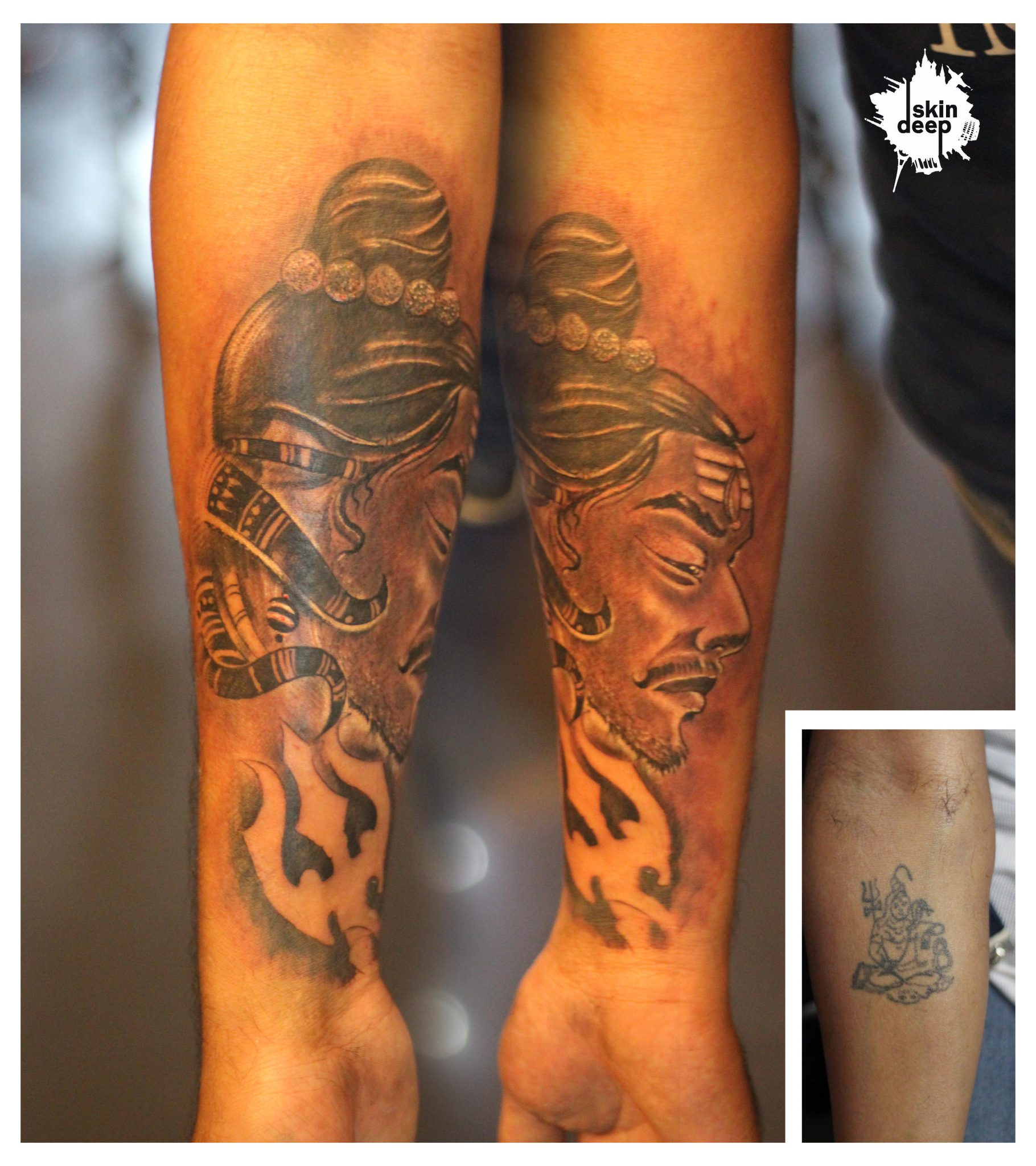 Cover Up Tattoo – Shiva