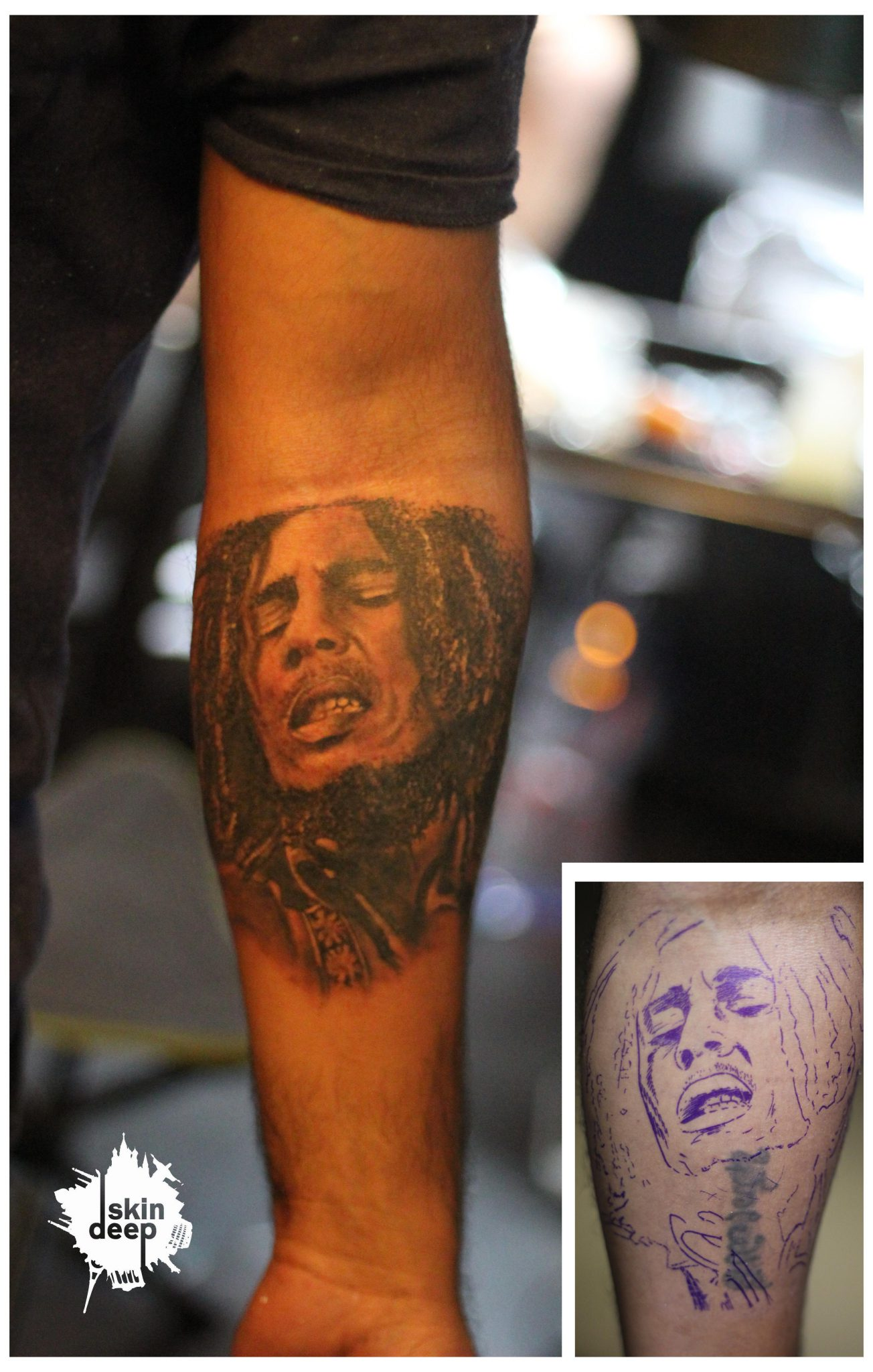 Cover Up Tattoo – Bob Marley
