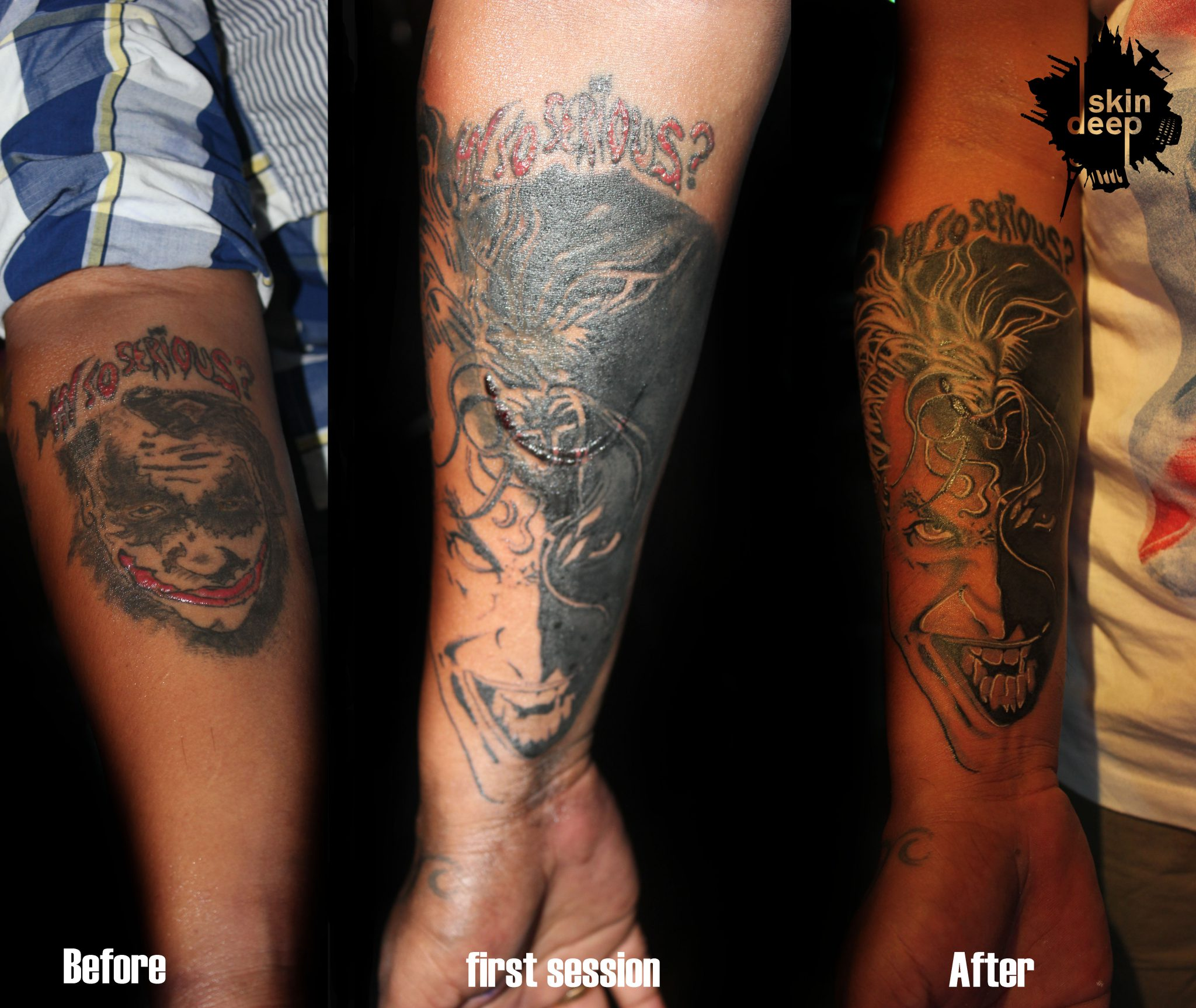 Cover Up Tattoo – Joker