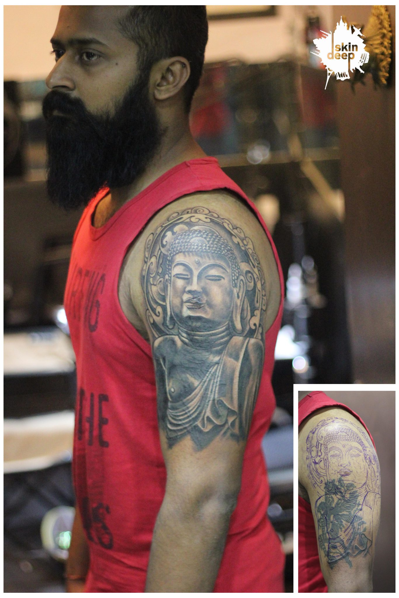 Cover Up Tattoo – Buddha