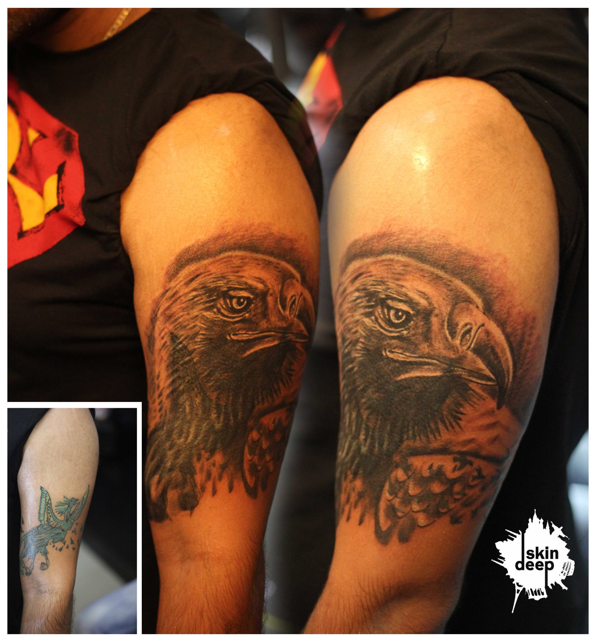 Cover Up Tattoo – Eagle