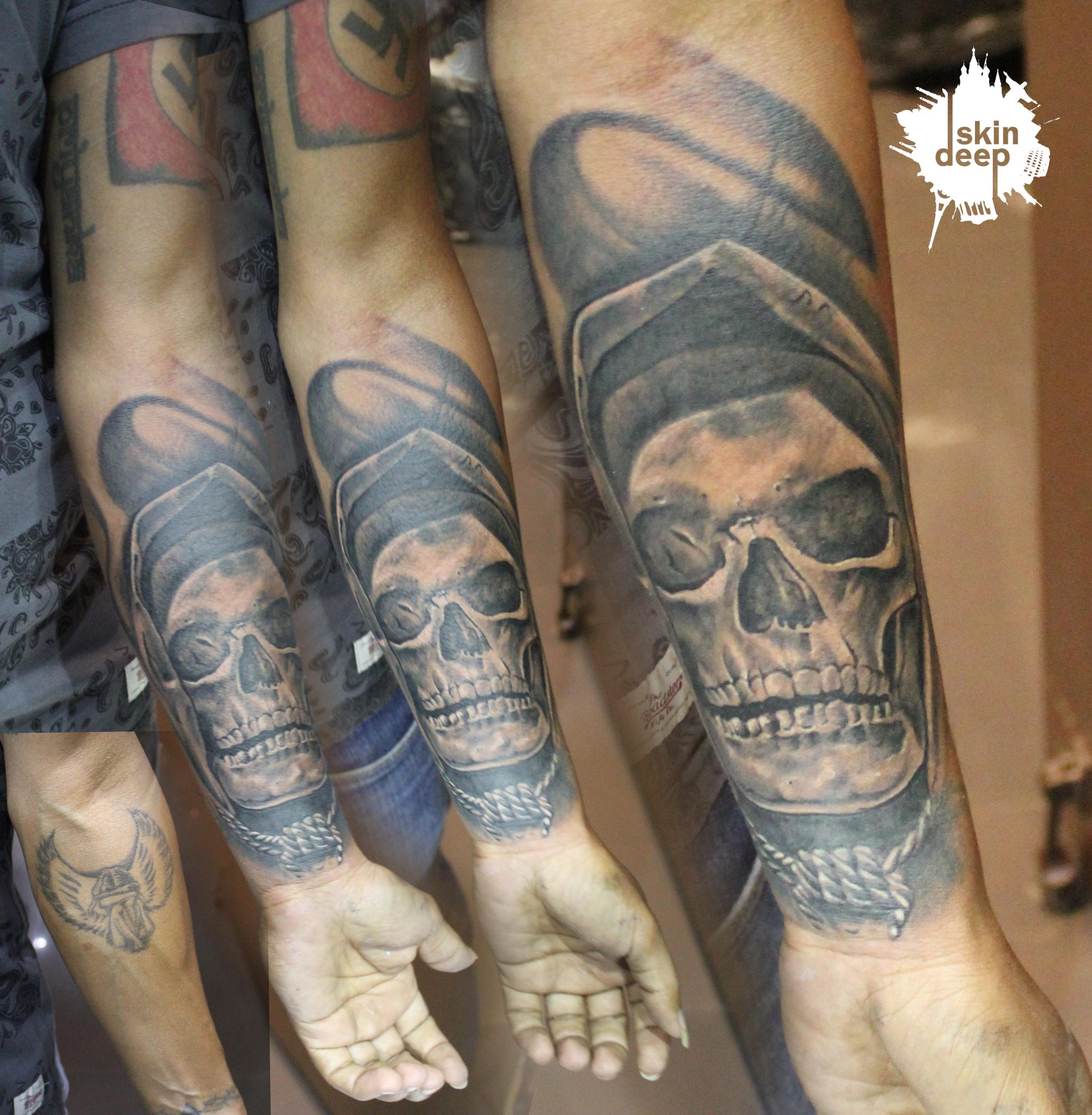 Cover Up Tattoo – Skull